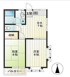 東京都調布市深大寺南町4丁目の賃貸アパートの間取り