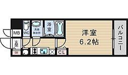 プレサンスOSAKA DOMECITYワンダー[209号室]の間取り