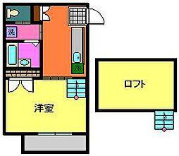 小川コーポ2[2階]の間取り