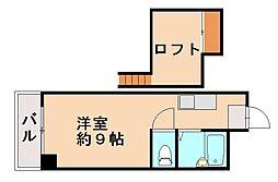 ルポ片江[4階]の間取り