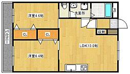 三陽ビル[3階]の間取り