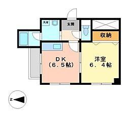愛知県名古屋市西区上名古屋3丁目の賃貸マンションの間取り