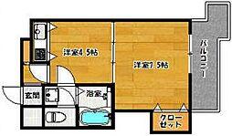 福岡県福岡市中央区荒戸3の賃貸マンションの間取り