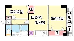 オーク松本通[701号室]の間取り