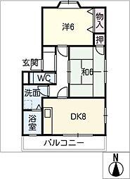 シーダハスネ A棟[2階]の間取り