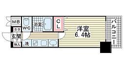 エステムプラザ神戸水木通グランクロス[702号室]の間取り