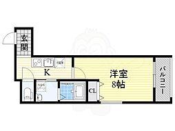 阪急京都本線 茨木市駅 徒歩7分の賃貸アパート 2階1Kの間取り