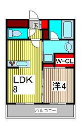 スタジオデン西川口[5階]の間取り
