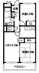 レジデンス・コートアネックス[4階]の間取り