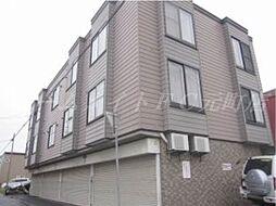 北海道札幌市東区北十二条東12の賃貸アパートの外観