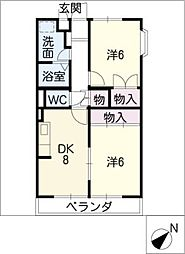 エントピア.FUJIYOSHI[2階]の間取り