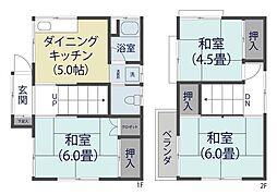 [一戸建] 埼玉県草加市花栗4丁目 の賃貸【/】の間取り