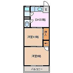 メゾン昌栄[3階]の間取り