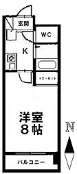 愛知県名古屋市昭和区南分町2の賃貸マンションの間取り