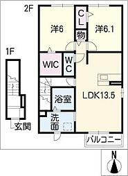 オレンジ コーストI[2階]の間取り