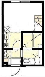 ハーミットクラブハウス山手III(仮)[2階]の間取り