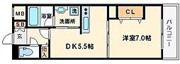 NLC新大阪パートIII[3階]の間取り