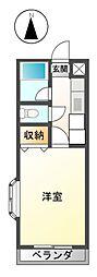 リバーサイドマンションPATATA[3階]の間取り