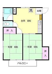 第2興陽ビル[2階]の間取り