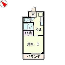 メゾンYK[3階]の間取り