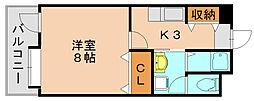 フリュウゲル21[2階]の間取り