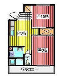 埼玉県さいたま市浦和区元町2丁目の賃貸マンションの間取り