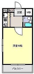 ビーバーハイツ駒川[4階]の間取り