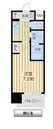 アーバンフラッツ新大阪I[5階]の間取り