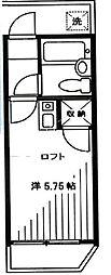 ソネット伏見[201号室]の間取り