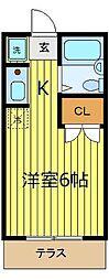コーポ川嶋[101号室]の間取り