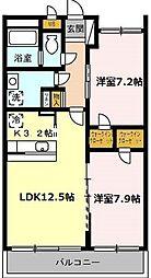 愛知県名古屋市千種区唐山町3丁目の賃貸マンションの間取り