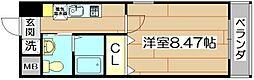 ラ・フォンテ摂津富田[8階]の間取り
