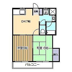 東京都小平市花小金井5丁目の賃貸マンションの間取り