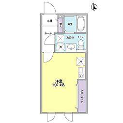 ミルクリーク桜山[1階]の間取り
