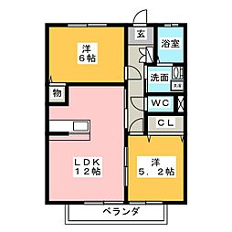 poco a poco[2階]の間取り