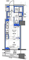 都営新宿線 小川町駅 徒歩30分の賃貸マンション 11階1DKの間取り