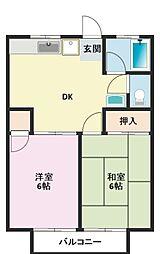 神奈川県横浜市鶴見区馬場3丁目の賃貸アパートの間取り