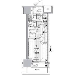 名古屋市営名城線 矢場町駅 徒歩9分の賃貸マンション 7階1Kの間取り