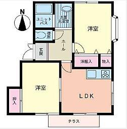 サンハイツ・OZAWA[1階]の間取り
