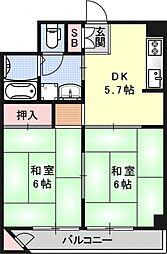西京極ガーデンハイツ[632号室号室]の間取り