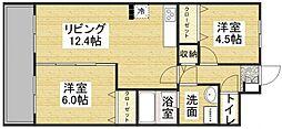 クレセント89[2階]の間取り