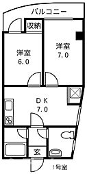 デイズハイツ港晴[9階]の間取り