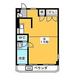 ハイネス四ッ谷[5階]の間取り