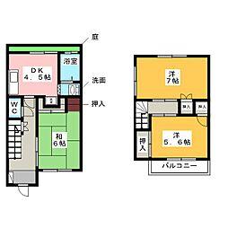 [一戸建] 愛知県名古屋市中川区大当郎3丁目 の賃貸【/】の間取り