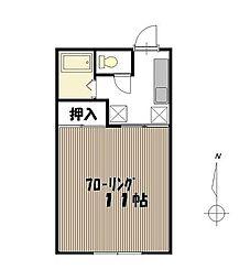 宮城県仙台市青葉区高松3丁目の賃貸アパートの間取り