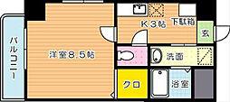 ホワイトバレー八幡駅前[2階]の間取り