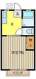 シャトー霞ヶ関[206号室]の間取り