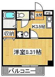 サラスバティ・辻井[302号室]の間取り