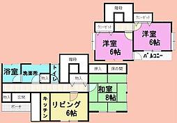 [一戸建] 千葉県山武市上横地 の賃貸【/】の間取り