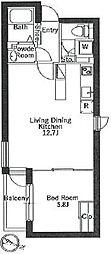 都営三田線 白山駅 徒歩7分の賃貸マンション 4階1LDKの間取り